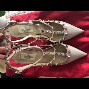 Valentino rockstud blush heels size 38.5